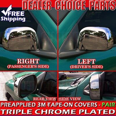 For 2002-2008 DODGE Ram 1500 Triple Chrome Mirror Covers Non-Towing