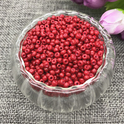 Wholesale NEW 3MM 500pcs Glass With Seed Spacer beads Jewelry Fitting Dark red
