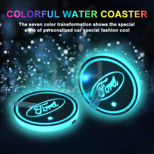 Ford Waterproof LED Cup/Bottle Holder/Pad/Coaster Rechargeable