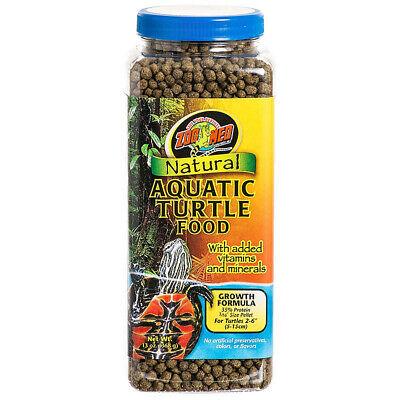 Zoo Med Growth Formula Natural Aquatic Turtle Food net weight 13 oz Natural Aquatic Turtle Food