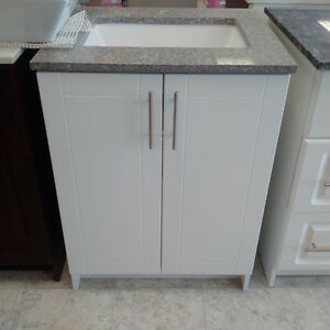 "24"" SINGH SERIES Vanity - Quartz Top, Soft Close Doors London Ontario image 2"