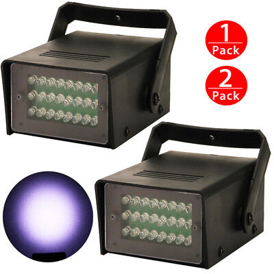 2 x Mini DJ Strobe Halloween Flash Light 24 LED Club Stage Lighting Party Disco - Halloween X Party