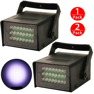 2 x Mini DJ Strobe Halloween Flash Light 24 LED Club Stage Lighting Party Disco - Halloween Party Clubs