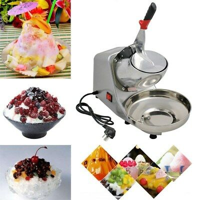 Ice Shaver Machine Snow Cone Maker Shaved Icee 143 Lbs Electric Crusher Shaving