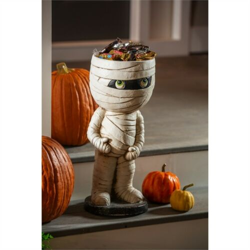 Mummy Statue Candy Bowl Halloween Outdoor Indoor Decor