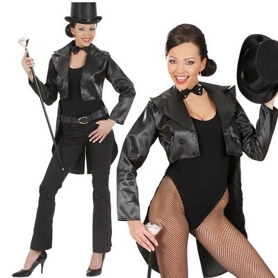 Showgirl SATIN FRACK Damen Kostüm Gr. 38/40 (M) Karneval Fasching Tänzerin #8791