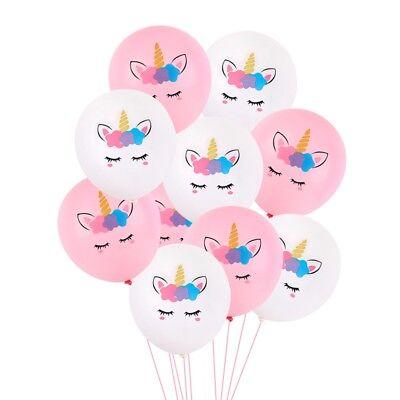 10pcs Unicorn Balloons Latex Ballon Birthday Party Decor Children Party Supply - Birthday Ballon