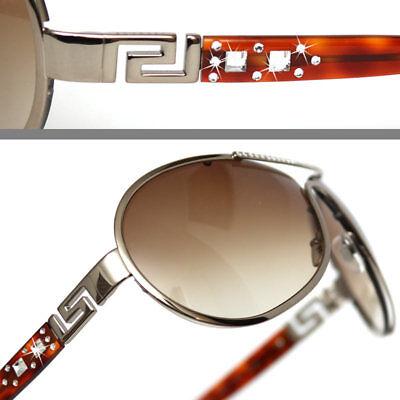 $440 GIANNI VERSACE Ladies DIAMOND CRYSTAL PILOT (Versace Diamond Sunglasses)