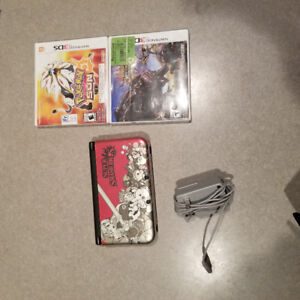 Super smash bros 3ds with 3 games+charger