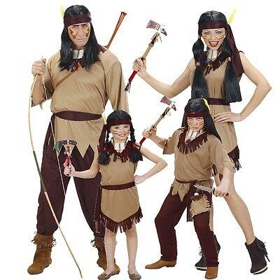 PREISHIT Indianer Indianerin Familien Kostüm Damen Herren Kinder Jungen - Indianisch Kostüm