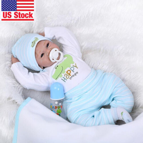 """22"""" Reborn Realistic Baby Doll Silicone Vinyl Soft Gentle To"""