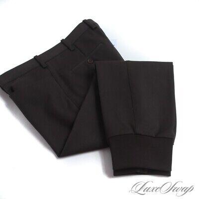 Neil Barrett Skinny Regular Rise Grey Infused Brown Stretch Pants Trousers 50 NR