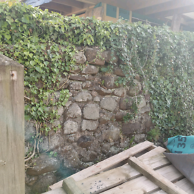 Stone wall for re location