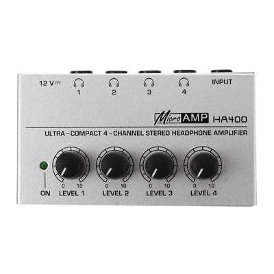 Audio 4 Channel Headphone Amplifier - HA400 4 Channel Ultra-compact Headphone Audio Stereo Amp Microamp Amplifier U9M4