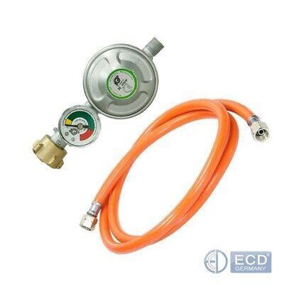 Druckminderer 50 mbar mit Füllstandsanzeige manometer Gasschlauch 150 cm