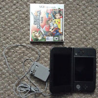 New 3DS XL (4 Hours Usage ONLY) + Super Smash Bros + AC Charger