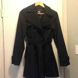Women's size small Calvin Klein Belted Trench Coat Like New $50