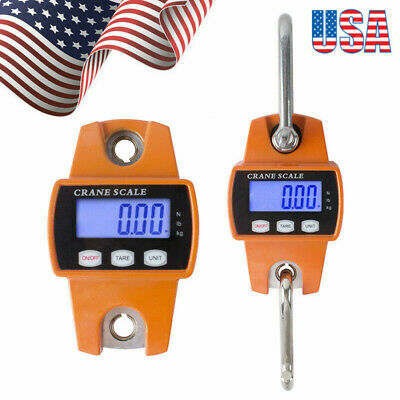 Safe 300kg 0.3 T Electronic Digital Portable Hanging Crane Scale Lcd Display Usa