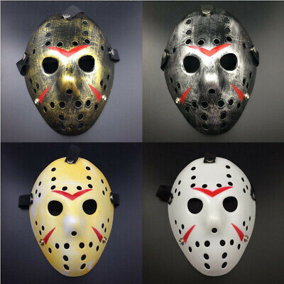 Jason Voorhees Freitag 13. Deluxe Horror Hockey Maske Karneval Halloween Kostüm