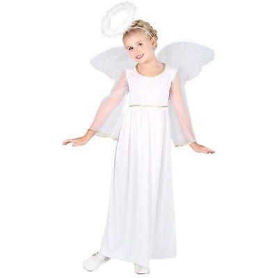 GIRLS ANGEL (L) COSTUME AGE 8-10 FANCY DRESS (FAIRY TALES)