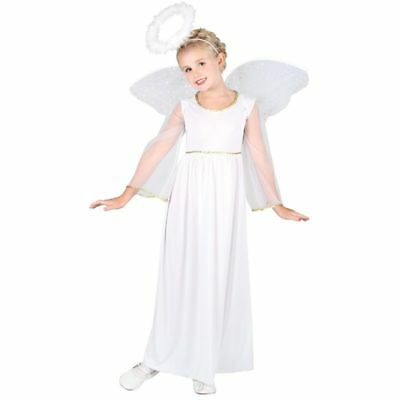 GIRLS ANGEL (L) COSTUME AGE 8-10 FANCY DRESS (FAIRY TALES) - Angel Costume Age 10