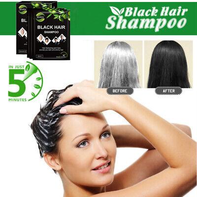 sevich 10PCS Black Hair Shampoo Only 5 Minutes Grey Become Black Hair Color (Best 10 Minute Hair Color)