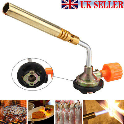 Flamethrower Burner Butane Gas Blow Torch Ignition Welding Camping BBQ Bake New