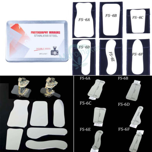 6pcs/set Double Side Reflector Orthodontic Mirror Intra-oral Photography Mirror