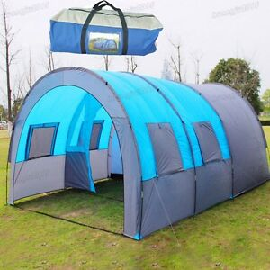 EWUGO 4-6 Persons Man XXL Camping Dome Family Tent Outdoor Group Tent With Pegs