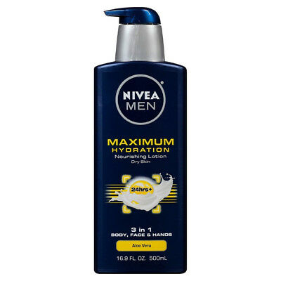NIVEA Men Maximum Hydration 3 in 1 Nourishing Lotion 16.9 fl