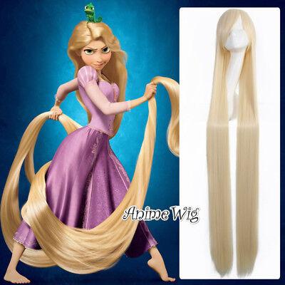 150CM Anime Blonde von Tangled Princess Party Halloween Cosplay Glatt Perücke