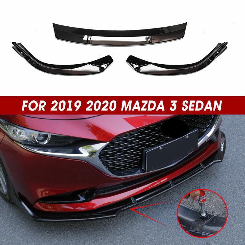 Bright black FOR Nissan NEW Altima 2019 ABS 4PCS Front Bumper Lip Cover Trim