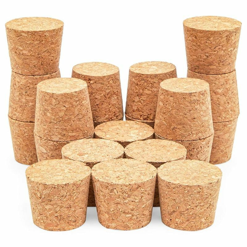 """20 Pack Size #16 Tapered Cork Plugs 1.3"""", Suitable for Most Wine and Beer Bottle"""