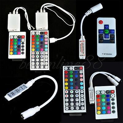Rgb Led Strip Controller - For 3528 5050 RGB LED Strip Light Mini 3/24/44 Key IR Remote Wireless Controller