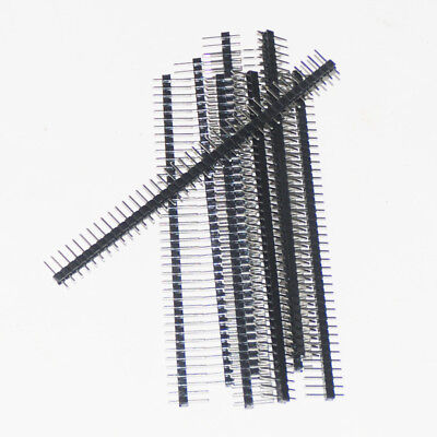 20pcs Single Male Pin Header For Arduino 1x40 Row 2.54mm Breakable 40 Pins