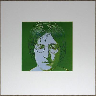ANDY WARHOL OFF-SET LITHOGRAPH ~ JOHN LENNON in GREEN ~ MATTED READY 2 FRAME