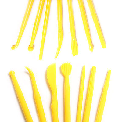 14 Piece Fondant Sculpting Tools Yellow Sugar Craft Cake Decorating Baking