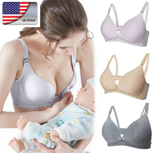 US Pregnant Women's Maternity Bra Breastfeeding Feeding Nurs