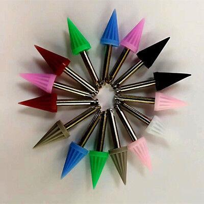 100x Dental Polishing Cup Silicone Polisher Teeth Tapered Fishing Stuck Colorful