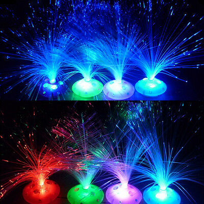 Color Changing LED Fiber Optic Night Light ...