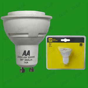 8-x-AA-4W-GU10-LED-Faretto-Accensione-immediata-Ultra-Bassa-Energia-3000K