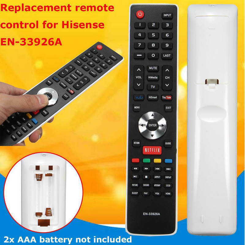 TV Remote Control for Hisense LCD LED HDTV EN-33926A EN-3392