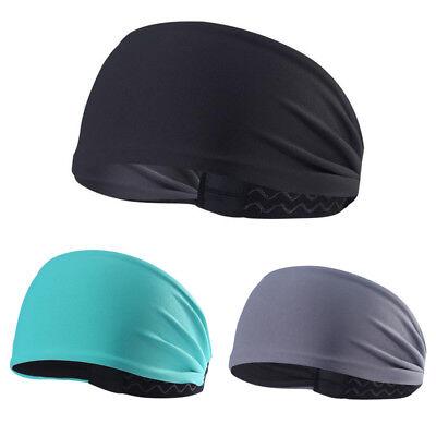 Women Men Yoga Sports Wide Headband Sweatband Hair Band Head Wrap Black (Hair Band Head)