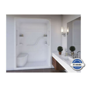 Mirolin FS5L/R Madison 5 Free Living Shower White Bars Without S