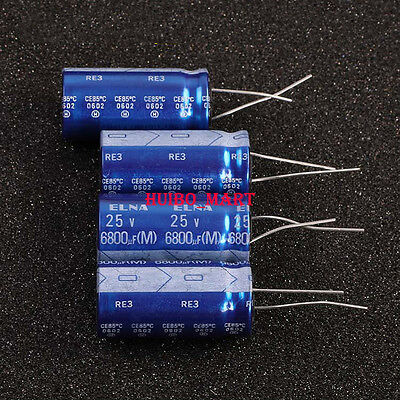 Elna Japan 25v 6800uf Re3 Audio Grade Electrolytic Capacitors 10pcs20pcs50pcs