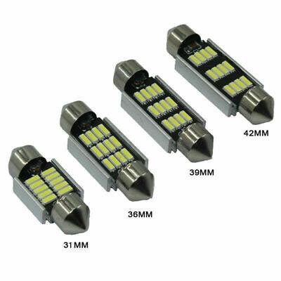 31mm 36mm 39mm 42mm Weiß LED Birne Innenbeleuchtung Kennzeichenleuchte Lampe Kit