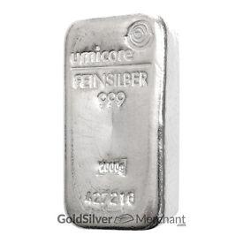1kg .999 fine silver bars for sale - Umicore