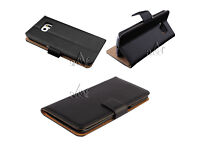 Job Lot 200x Genuine Real Leather Flip Wallet Case Cover For Samsung Galaxy S6 +Screen Protector