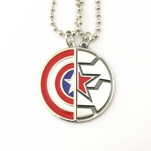 Captain America, Winter Soldier, Marvel, Avengers Friendship Necklace