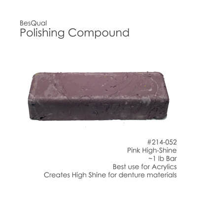 Dental Lab Polishing Compound Bar Pink High-shine For Metals